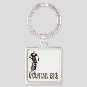 Mountain_Bike3 Square Keychain