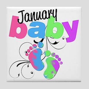 Jan baby Tile Coaster