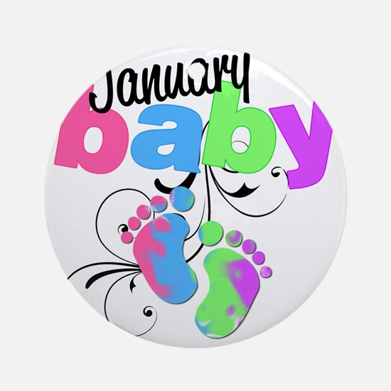 Jan baby Round Ornament