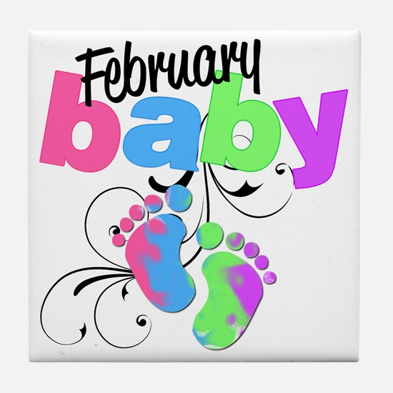 Feb baby Tile Coaster