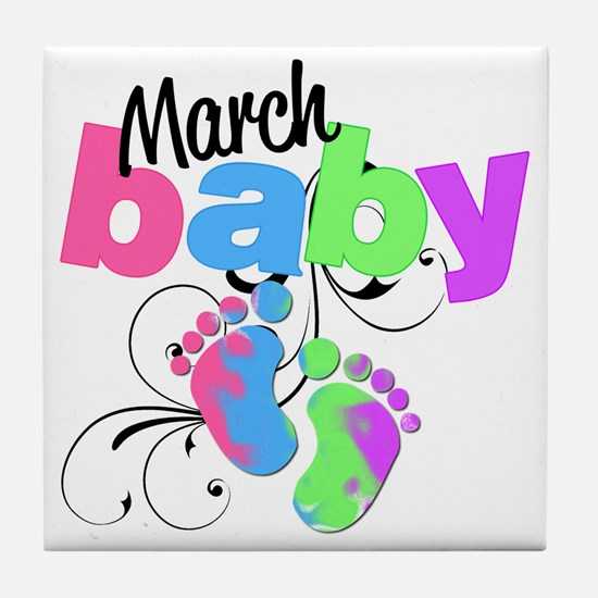 march baby Tile Coaster
