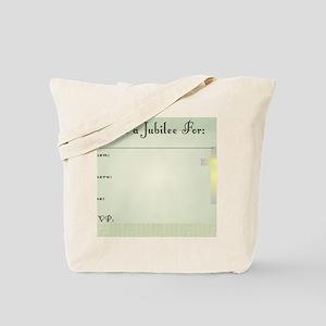Jubilee Invite GReen INSIDE Tote Bag