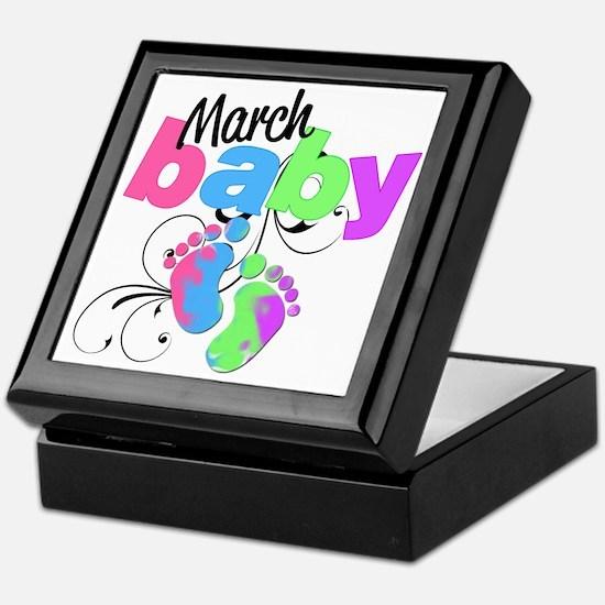 march baby Keepsake Box