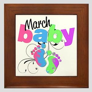 march baby Framed Tile