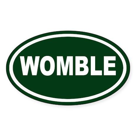 Womble Euro Oval Sticker