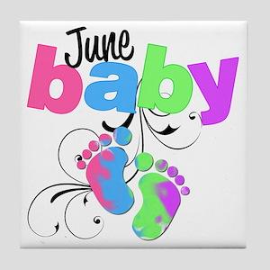 june baby Tile Coaster