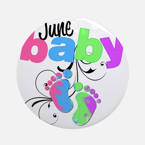 june baby Round Ornament