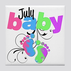 july baby Tile Coaster