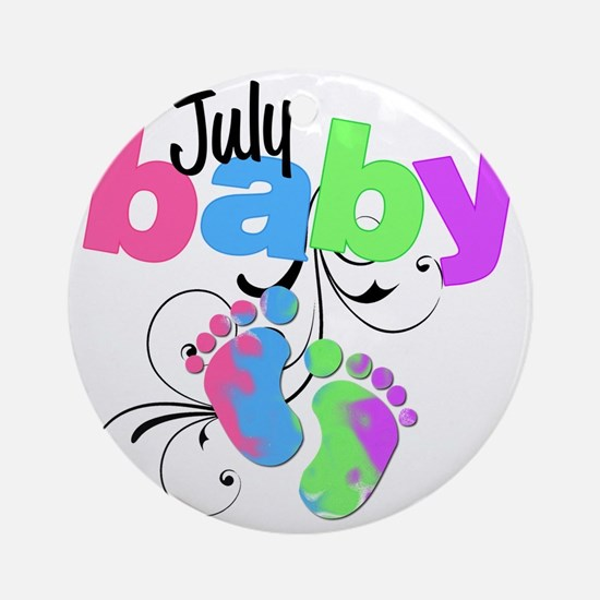 july baby Round Ornament