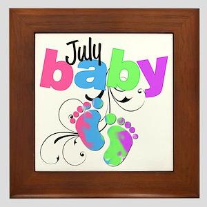 july baby Framed Tile