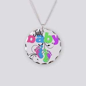 july baby Necklace Circle Charm