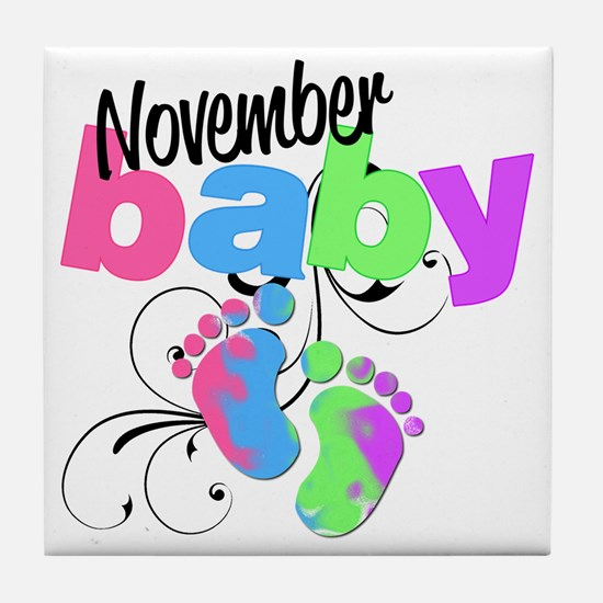 nov baby Tile Coaster