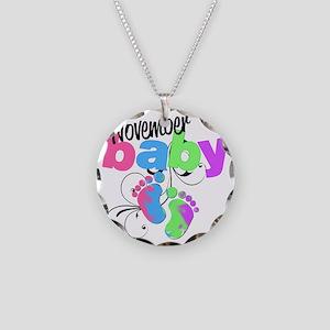 nov baby Necklace Circle Charm