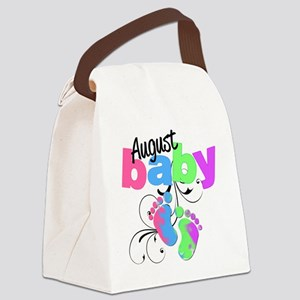 august baby Canvas Lunch Bag