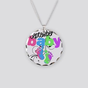 sep baby Necklace Circle Charm