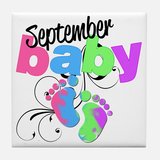 sep baby Tile Coaster