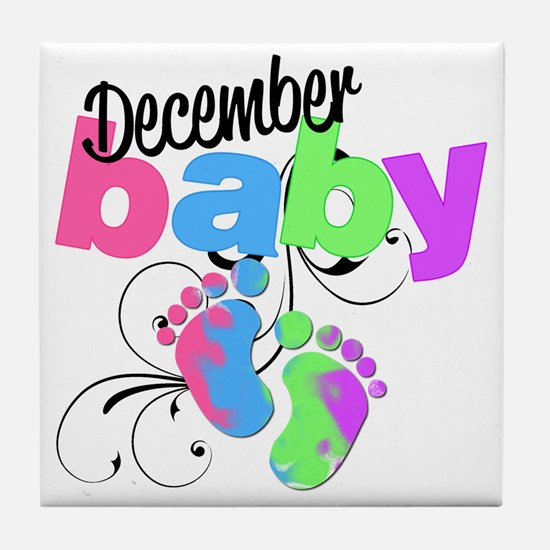 dec baby Tile Coaster