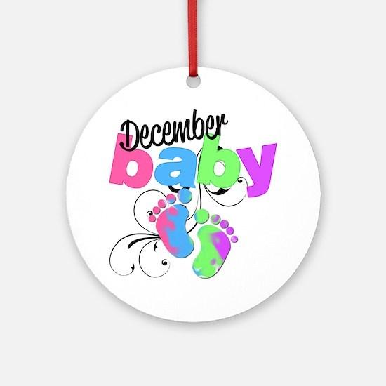 dec baby Round Ornament
