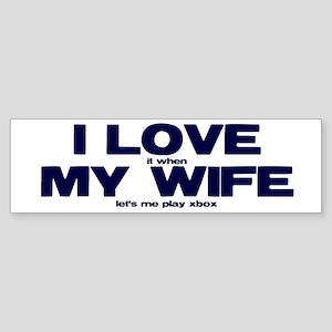 Love my wife Xbox Sticker (Bumper)