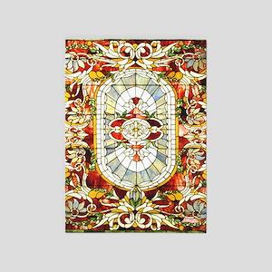Regal_Splendor_Stained_Glass_stadiu 5'x7'Area Rug