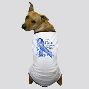 I Wear Blue Because I Love My Daughter Dog T-Shirt