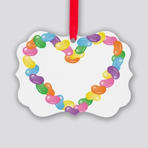 JellyBeanHeart Picture Ornament