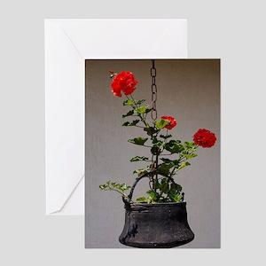 Flower_in_a_cauldron_Lavoel_Stadium_ Greeting Card