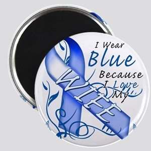 I Wear Blue Because I Love My Wife Magnet