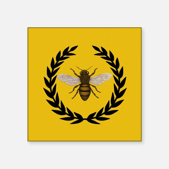 "Stylized Bee_N_Honeycomb Square Sticker 3"" x 3"""