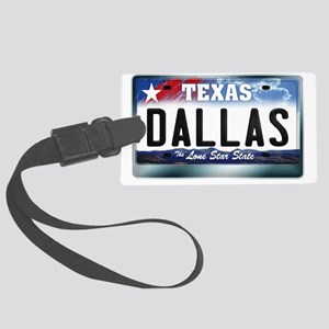 texas-licenseplate-dallas Large Luggage Tag