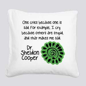 sheldon sadcopy Square Canvas Pillow
