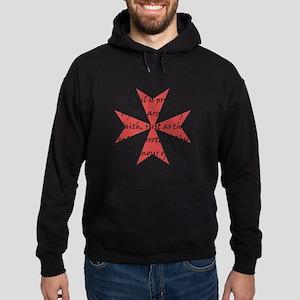 Templar Cross Black Hoodie (dark)