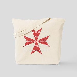 Templar Cross White Tote Bag