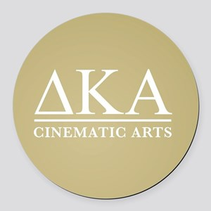 Delta Kappa Alpha Letters Round Car Magnet