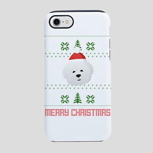 Bichon Frise Santa Snow Christ iPhone 7 Tough Case