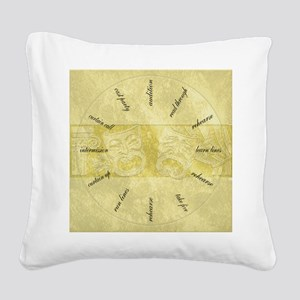 Theater-Mask-clockLARGEST Square Canvas Pillow