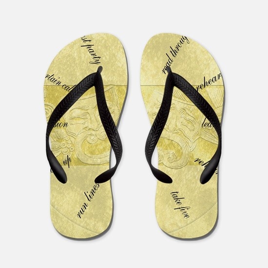 Theater-Mask-clockLARGEST Flip Flops