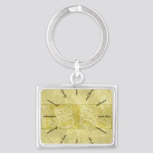 Theater-Mask-clockLARGEST Landscape Keychain