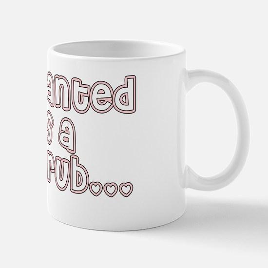 back rub 4 white Mug