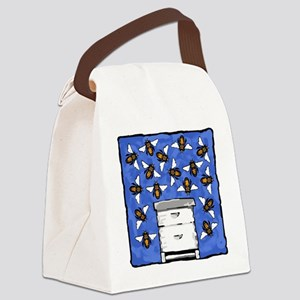 Bees and Beehive Canvas Lunch Bag