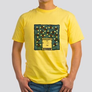 Bees and Beehive Yellow T-Shirt
