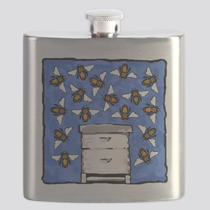 Bees and Beehive Flask