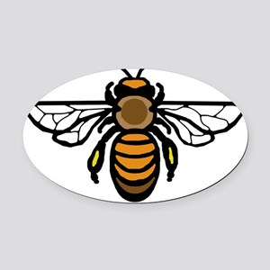 Big Bee Oval Car Magnet