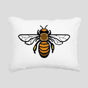 Big Bee Rectangular Canvas Pillow