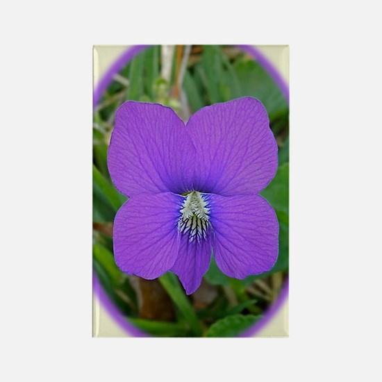 Violet Wildflower Blossom iTouch2 Rectangle Magnet