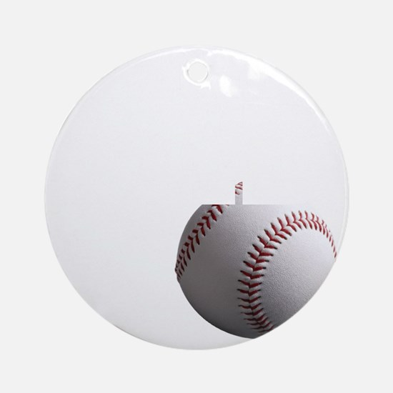 Baseball Dad black tees Round Ornament