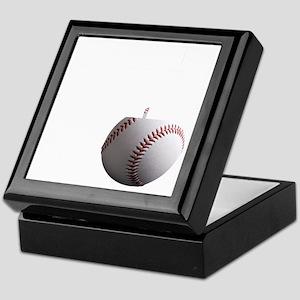 Baseball Dad black tees Keepsake Box