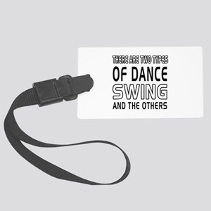 Swing Dance Designs Large Luggage Tag