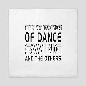 Swing Dance Designs Queen Duvet