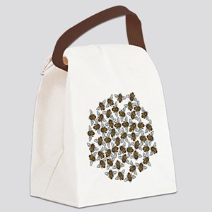 Little Bee Swarm Canvas Lunch Bag